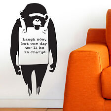 MONKEY, LARGE WALL STICKER, Animals, Laugh, Win, Job, Decal, WallArt, SS710