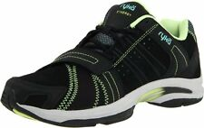 New Ryka Women's Synergy Studio Cross Training Shoes Black Light Green Aqua
