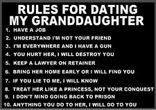 Rules For Dating My Granddaughter T-Shirt Funny Grandpa Mens Tee