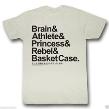 New Authentic Mens The Breakfast Club Names Tee Shirt