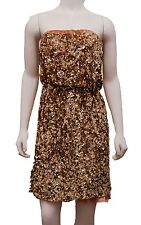 Tommy Hilfiger Dress Womens Strapless Gold Sequins Party Vintage Size Xs S M