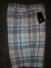 NIKE GOLF TOUR PERFORMANCE DRI FIT PLAID SHORTS W38 36 34 33 32 MENS NWT $70.00