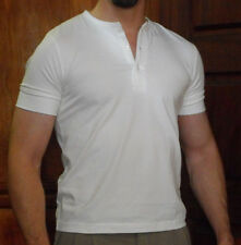 DRIVE Ryan Gosling Vintage Style HENLEY 3-Button T Shirt by Magnoli Clothiers