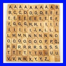 WOODEN SCRABBLE TILES CUSTOM LETTERS SET FOR JEWELRY SCRAPBOOKING HANDCRAFTS