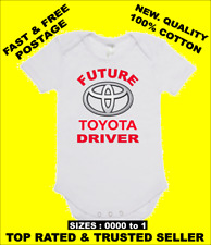 BABY ONE PIECE, ROMPER. ONESIE. printed with FUTURE TOYOTA DRIVER quality onesie