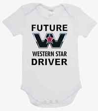 BABY ONE PIECE, ROMPER. ONESIE. printed with FUTURE WESTERN STAR DRIVER  romper