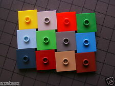New & used lego tile plate 2x2 w stud in cenre part 87580 choose any  (24t/56t)
