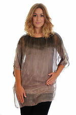 New Womens Tie Dye Sequin Batwing Top Evening Party Nouvelle Ladies Plus Size