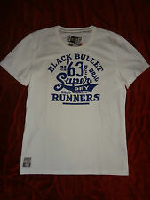 SUPERDRY White 63 BULLET RUNNERS Mens XXL Extra Extra Large 2XL Cotton T-Shirt