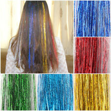 "300S 28"" silk hair tinsel for human / feather hair extensions ,28 colors option"