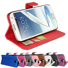 PU LEATHER WALLET CASE COVER FOR SAMSUNG GALAXY NOTE 2 N7100