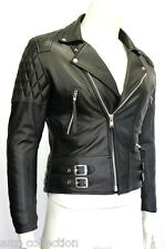 Desprado Men's Black Biker Style Motorcycle Real Classic Cowhide Leather Jacket