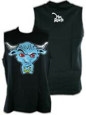 The Rock Blue Brahma Bull Sleeveless Black Muscle T-shirt