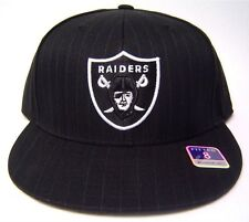 New! Oakland Raiders Flatbill Fitted Pinstripe Hat 3D Embroidered Cap - Reebok