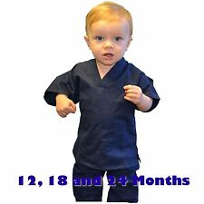 Toddler Scrubs Set REAL Navy Blue Childrens Doctor and Nurse Kids Scrub Sets