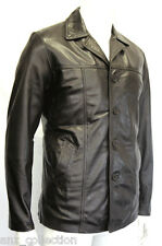 Kevin Mens Gents Brown Designer  Real Soft  Lambskin Nappa Leather Jacket Coat