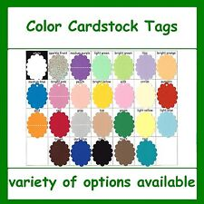 Oval Scalloped Tags Colored Cardstock Color Card Stock Gift Craft Sale Price Tag