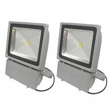 2PCS 100W Outdoor LED Garden Flood lights Lamp White High Power Spotlights