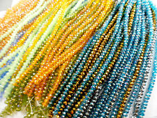 1 Str 6x4mm Rondell Chinese Crystal Beads (50 beads) You Pick Color
