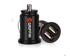 Car Charger Adaptor Bullet Dual Mini USB 2-Port for Samsung Apple iPhone 4 S 5