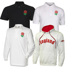 England Rugby Shirt Jersey Red Rose/ Hooded Sweatshirt Hoodie Eng Flag Mens New