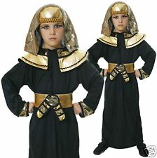 Boys 4-12 yrs Pharaoh Egyptian Arab Prince King Fancy Dress Costume 3 Sizes 4-12
