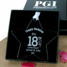 Engraved 18th birthday ideas male female gift box 18th birthday star