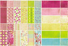 BasicGrey LEMONADE 12x12 Single-Sided (2pc) Scrapbooking Papers