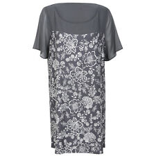 New Evans Tunic Top Grey & Ivory Floral Size 14, 16, 18, 20, 22/24, 26/28, 30/32