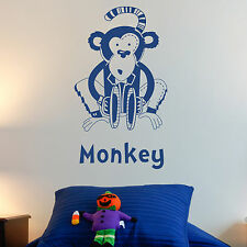 MONKEY, LARGE WALL STICKER, Silhouette, Kids, Decal, WallArt, SS859