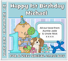 Boys 1st Birthday Gift: Personalized Nursery Rhymes ✶ Personalised Gifts 4 Kids