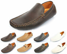 MENS DESIGNER INSPIRED LEATHER LOOK CLASSIC FORMAL/CASUAL SOFT LOAFERS  40-45