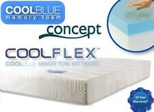 "CONCEPT  COOLFLEX COOLBLUE MEMORY FOAM MATTRESS EURO-DOUBLE 140x200 8"" OR 10"""