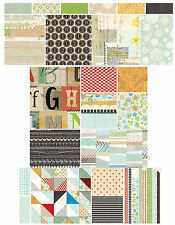 BasicGrey CLIPPINGS 12x12 Dbl-Sided Scrapbooking Paper YOU CHOOSE DESIGN