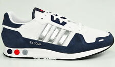 L@@K BRAND NEW MENS SHOES ADIDAS ORIGINALS ZX COMP TRAINERS RETRO WHITE NAVY