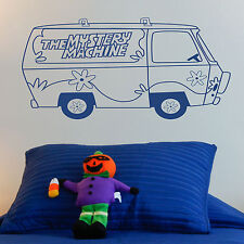 THE MYSTERY MACHINE, LARGE WALL STICKER, Scooby Doo, Decal, WallArt, SS1125