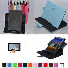 "Colorful Rotary PU Leather Case+Free Film For 9"" ZTO 9-Inch Android 4.1 Tablet"