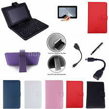 "Colorful Keyboard Case+Free Film For 8"" Proscan PLT8031 PLT8088 Android Tablet"
