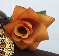 GOLDISH FLOWER HAIR CLIP FOR MEXICAN FIESTA,5 DE MAYO,DAY OF THE DEAD,WEDDING