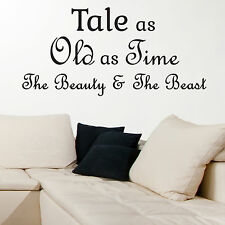 BEAUTY AND THE BEAST, LARGE WALL STICKER, Disney, Decal, WallArt, SS1037