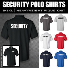 SECURITY POLO SHIRT **** SIZES S - 5X **** Back and Left Chest Print ****