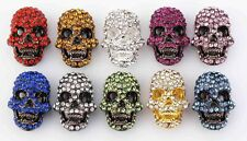 10 x NEW Diamante SKULL Beads 4 Shamballa Friendship Bracelet making