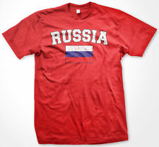 Russia World Cup Soccer Russian Pride Distressed Flag Olympics Mens T-Shirt