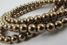 Glass Pearl Antique Brass 3mm, 4mm,6mm,8mm,10mm,12mm round spacer loose beads