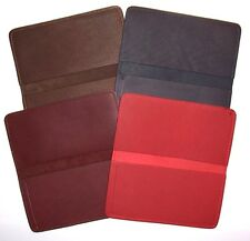 Leather Side-Mount Checkbook Cover - Choice of Red or Burgandy - Made in USA