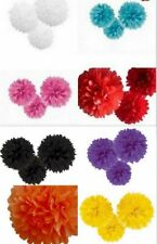 3x 42.5cm Tissue Paper Pom Poms Party Balls Wedding Christmas Xmas Decoration