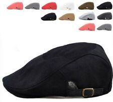 Unisex Newsboy Cabbie Golf Driving Flat Cap Hat- 4 Colors