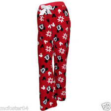 Lounge Pants PJS Pyjamas Ladies Women's Disney Mickey Mouse Fleece Size 6-20