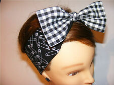 REVERSIBLE Punk Safety Pins Ready to Tie BOW Bandana sex pistols tattoo piercing