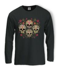 Dia De Muertos Day of the Dead Long Sleeve T-Shirt Mexican Tattoo Sugar Skull